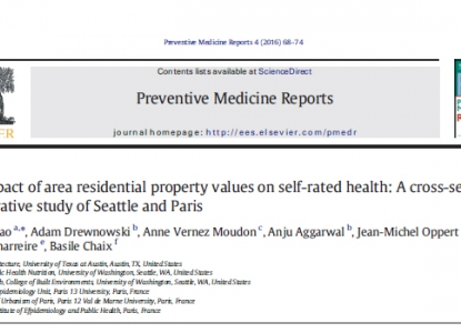 The impact of area residential property values on self-rated health: A cross-sectional comparative study of Seattle and Paris