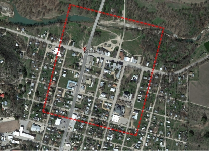 Aerial map of the students site in Menard, Texas