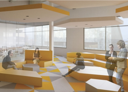 Image of First Place winning entry by Amanda Heineman to the 2014 IIDA Student Design Competition.