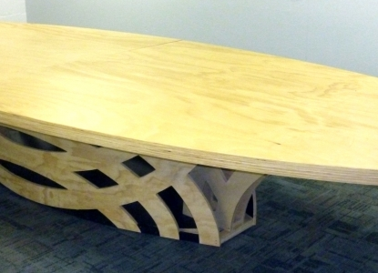 IT Conference Table - Orthogonal View