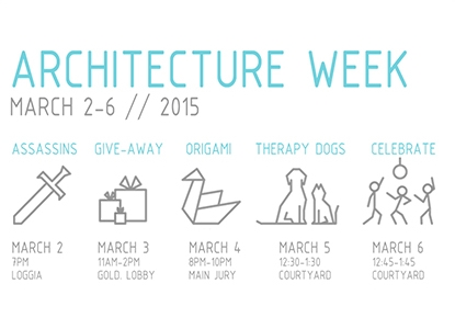 UTSOA UASC Architecture Week Assassins Free Giveaway Therapy Pets