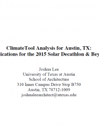 ClimateTool Analysis for Austin, TX: Implications for the 2015 Solar Decathlon & Beyond cover