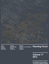 Planning Forum Volume 17 cover