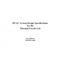 HVAC System Design Specifications for the Thermal Facade Lab cover