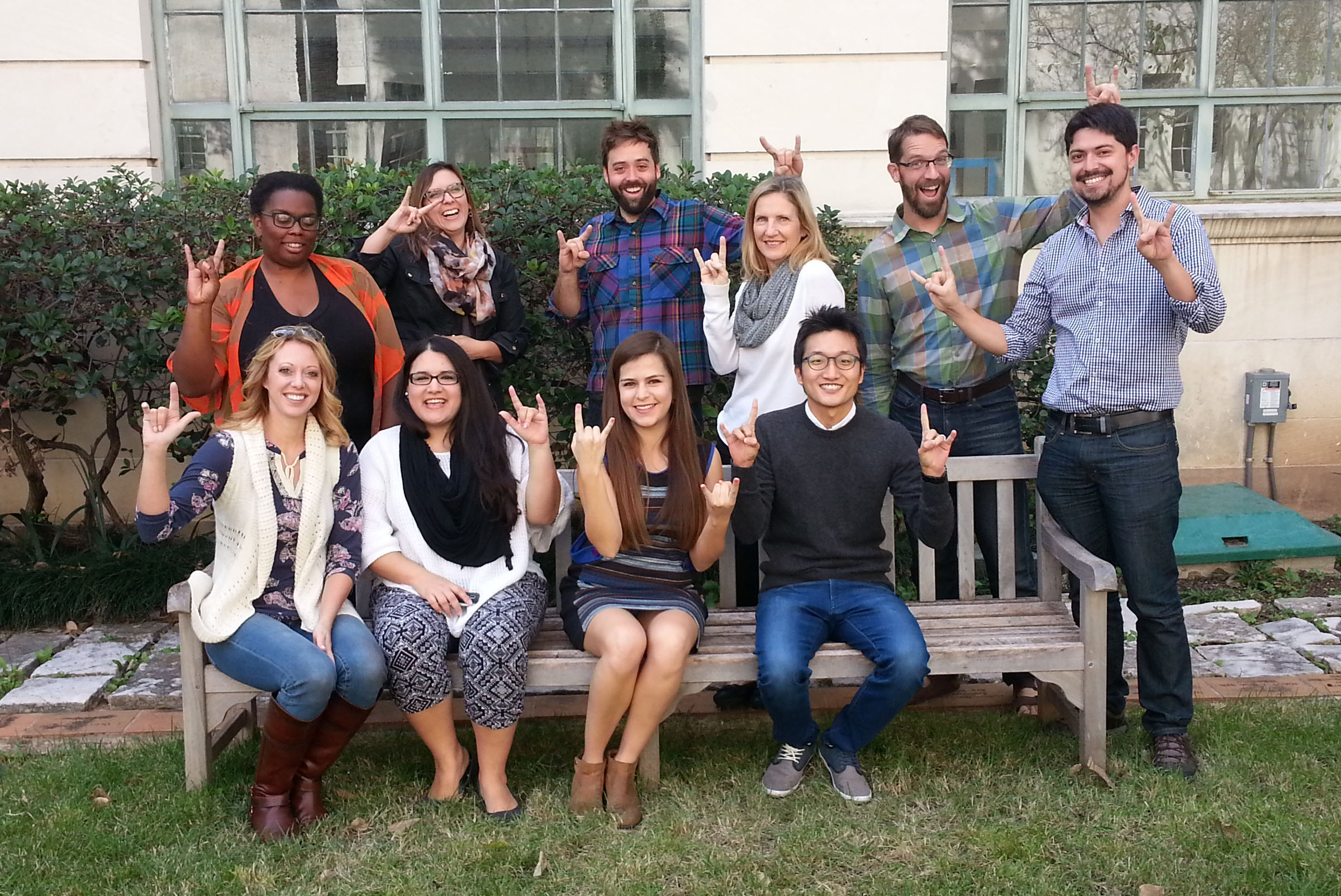 CRP PhD students in Goldsmith Courtyard, November 2015