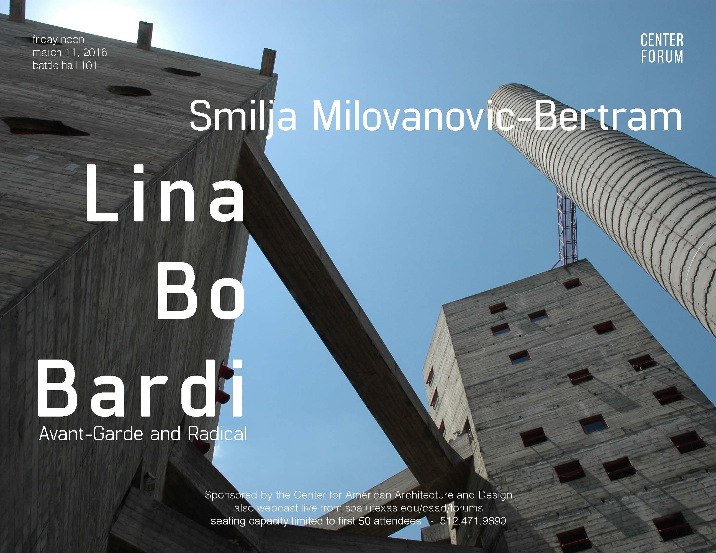 Smilja Milovanovic-Bertram Friday Lunch Forum
