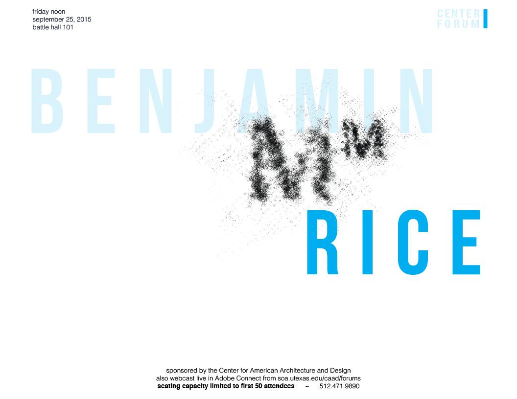 Benjamin Rice Friday Lunch Forum