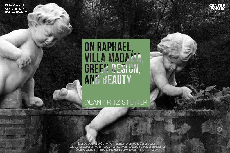 On Raphael, Villa Madana, Green Design, and Beauty