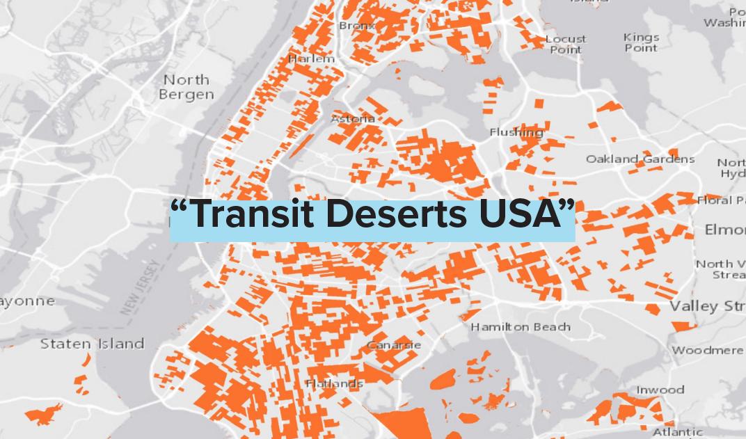 Transit Desert New York Map
