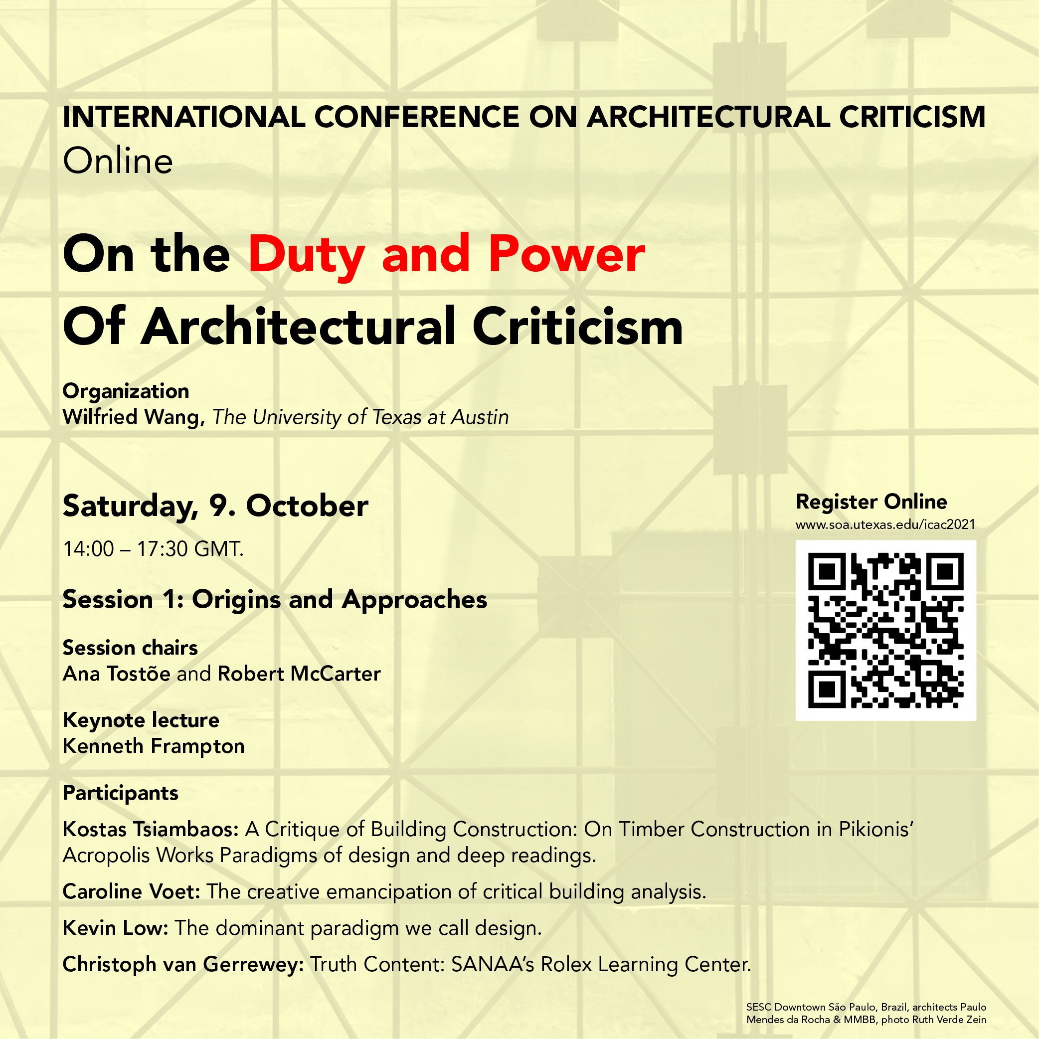 On the Duty and Power of Architectural Criticism Poster Day 1