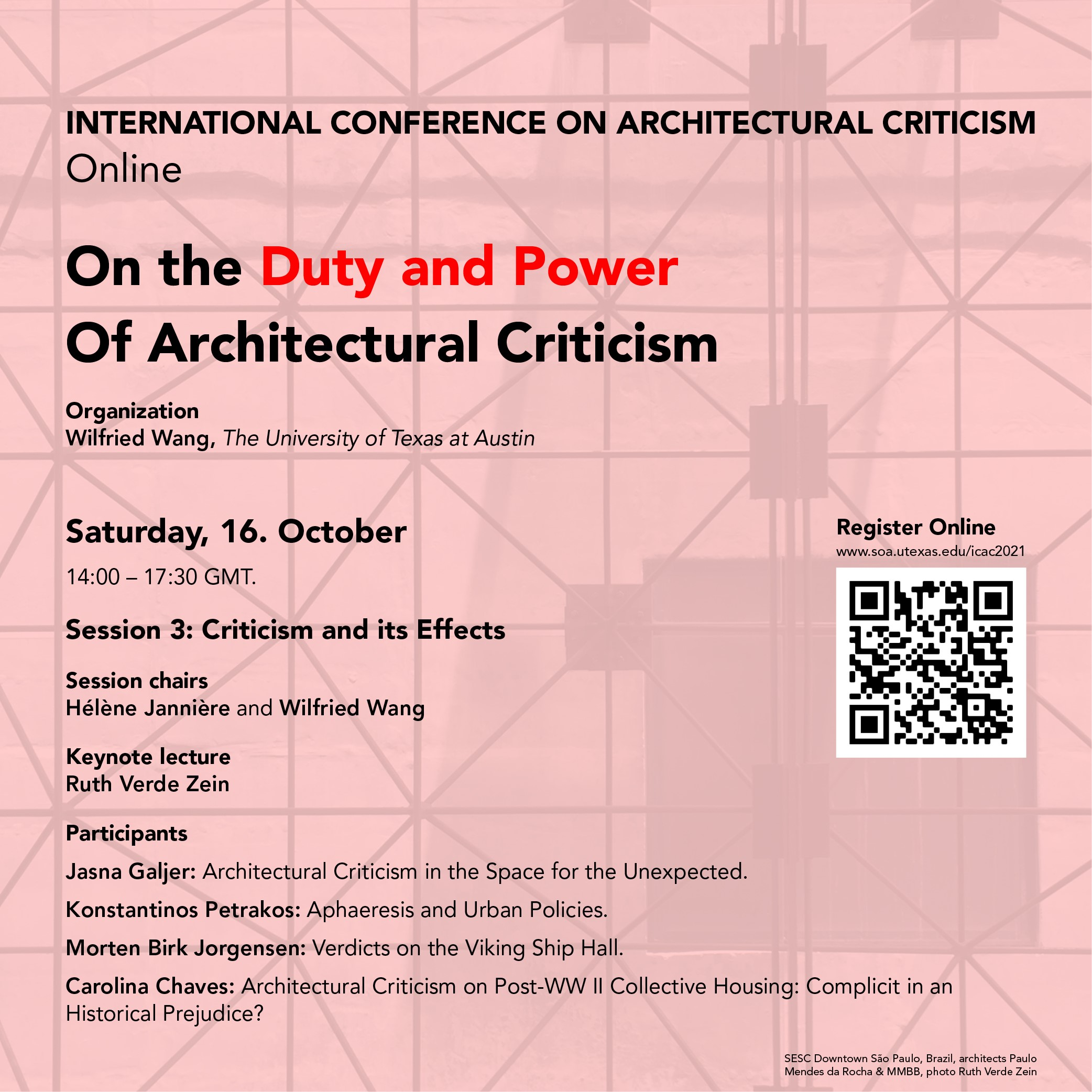 On the Duty and Power of Architectural Criticism Poster Day 3