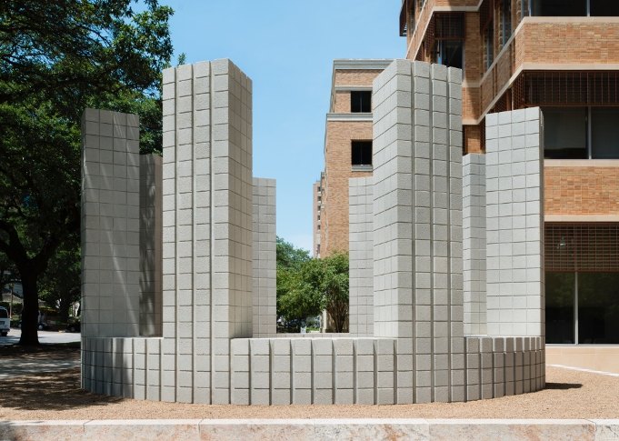 Circle with Towers by Sol LeWitt. Photo by Mark Manjivar.