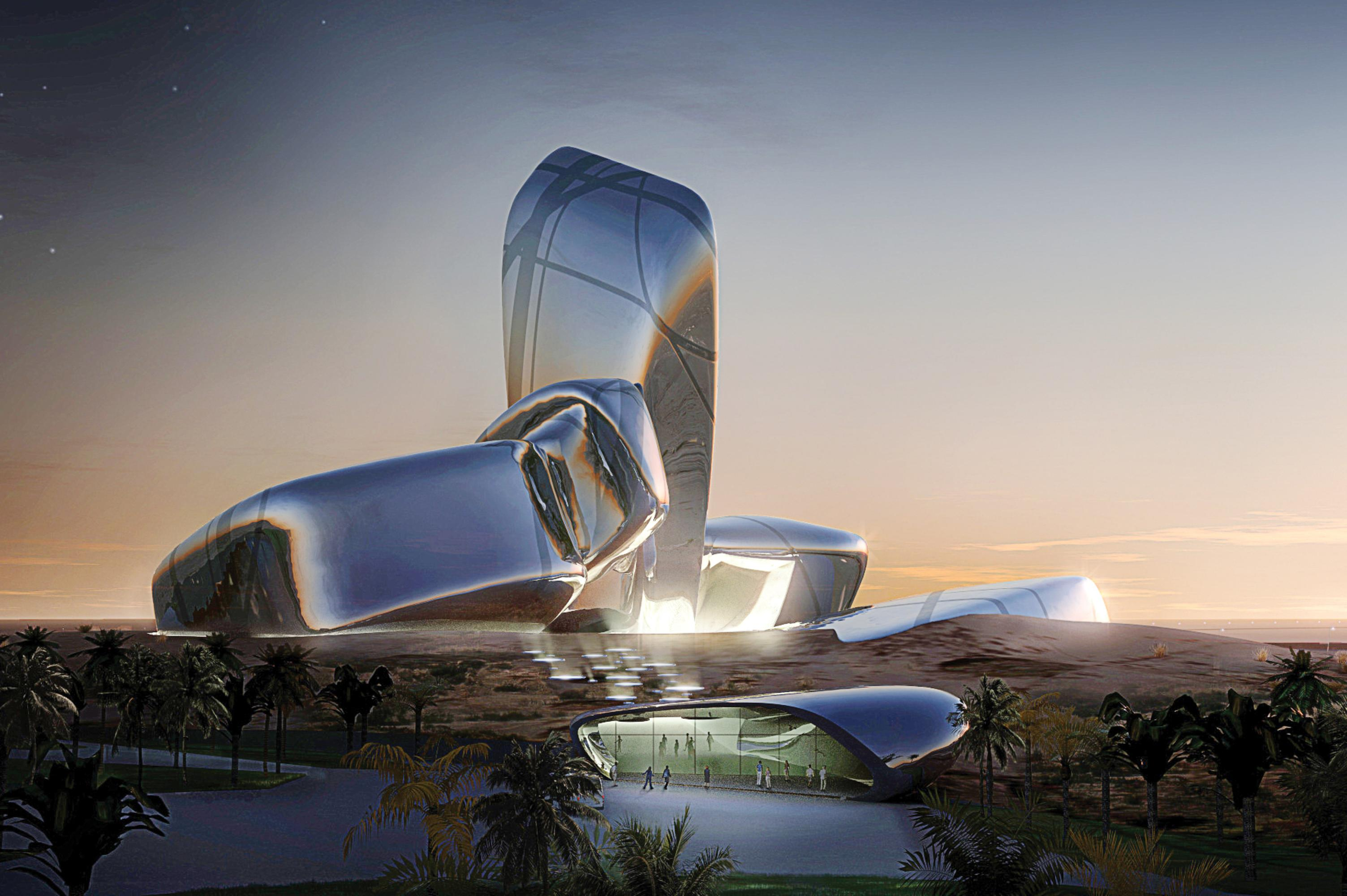 The King Abdulaziz Center for World Culture (2017). Photo: Snøhetta and MIR