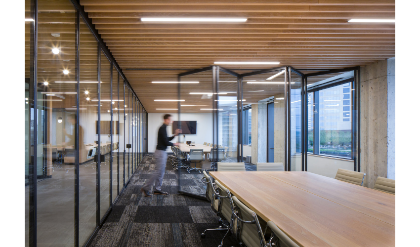 RigUp Office by Matt Fajkus Architecture Expandable Conference Room