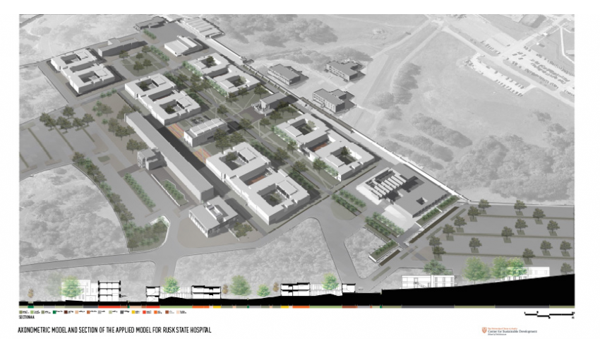 Rusk  State Hospital Applied Model - Axonomentric