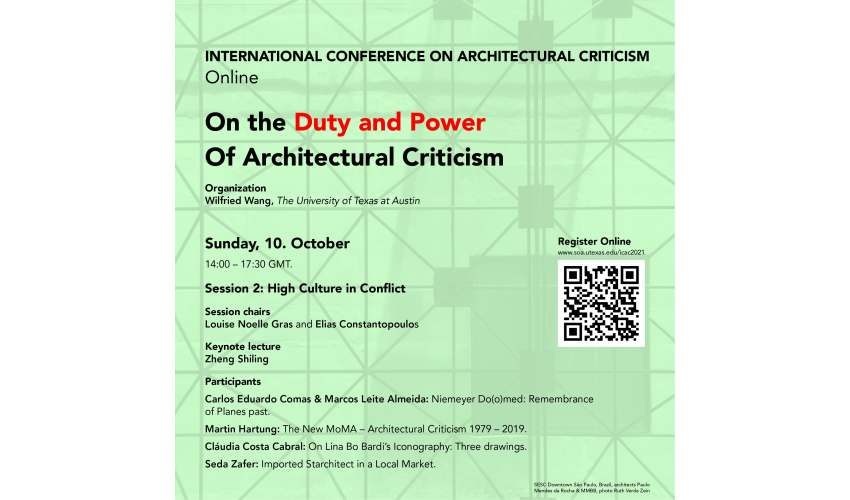 On the Duty and Power of Architectural Criticism Poster Day 2