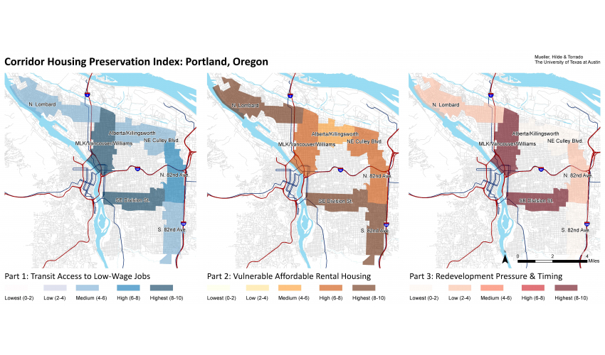 Case Study Results Map for Portland, Oregon
