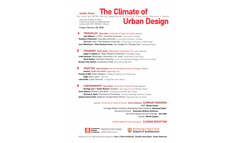 Climate of Urban Design Event Poster