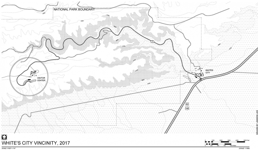Site Map of Carlsbad Caverns CAVE HABS
