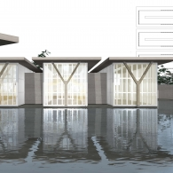 Project: The Modern ArtMuseum of Fort Worth | Designer: Tadao Ando | Student: Siwen Fang