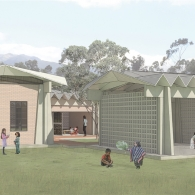 Daycare Center perspective rendering