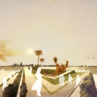 Perspective view of Daphne's proposal for a Hurricane Maria Memorial in New York City.