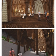 Interior renderings of the Wind Conduit project