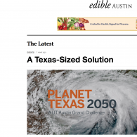 Photo of Planet Texas 2050 webpage