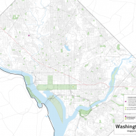 Map of John S. Chase's projects in Washington D.C.