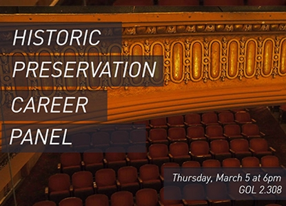 Historic Preservation Career Panel - Thursday, March 5