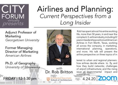 Poster for Airlines and Planning City Forum Event