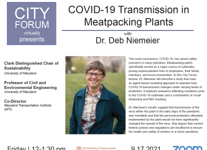 COVID-19 Transmission in Meatpacking Plants: September 17th at 12:00pm on Zoom