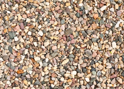 Decomposed granite mixed with pebbles