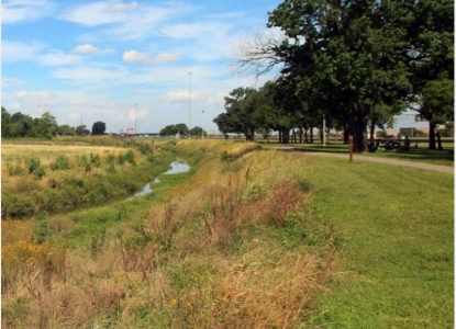 photo of open ditch stormwater system in Houston, TX