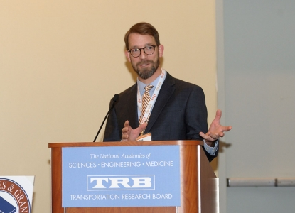 Greg Griffin speaking at the Transportation Research Board Annual Meeting