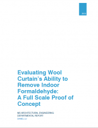 Evaluating Wool Curtain's Ability to Remove Indoor Formaldehyde: A Full Scale Proof of Concept cover