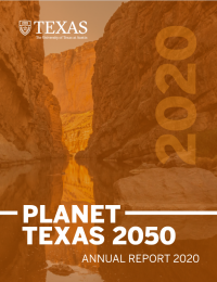 Planet Texas 2050 Annual Report cover
