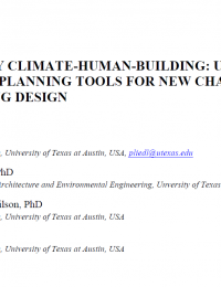 Interplay Climate Human Building -User friendly planning tools for new challenges in building design cover